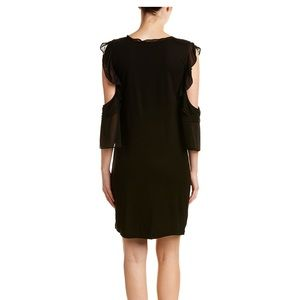 NEW French Connection black dress cold-shoulder 10